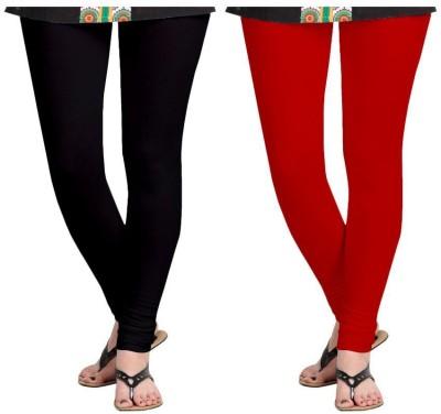 Roshni Creations Women's Red, Black Leggings