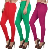 Danbro Women's Red, Green, Pink Leggings...