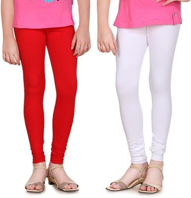 Sini Mini Girl's Red, White Leggings