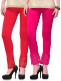 kamalgarments Women's Red, Pink Leggings...