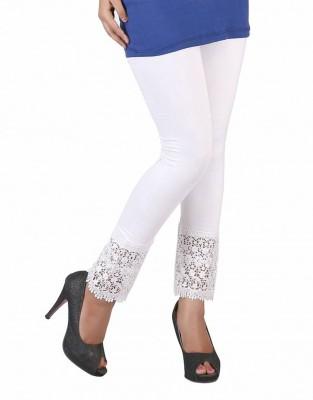 BikeNwear Women's White Leggings