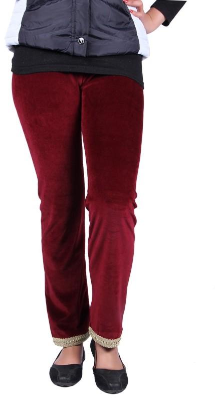 Kally Women's Maroon Leggings