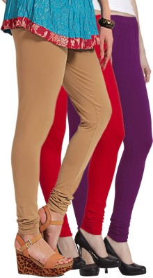 VENUSTAS Women's Purple, Red, Beige Leggings