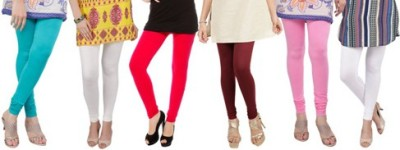 Prekrasna Women,s Light Blue, Beige, Red, Maroon, Pink, White Leggings