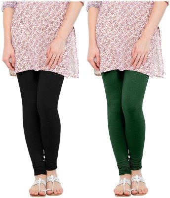 Oh Fish Women's Green, Black Leggings