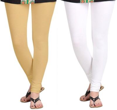 ZACHARIAS Women's Beige, White Leggings
