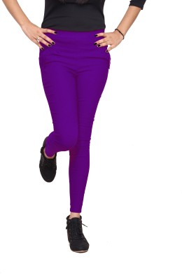 Xarans Women's Purple Jeggings