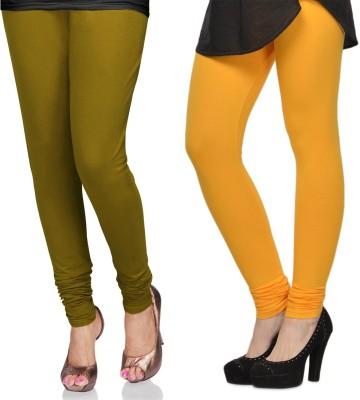 SareeGalaxy Women's Light Green, Yellow Leggings