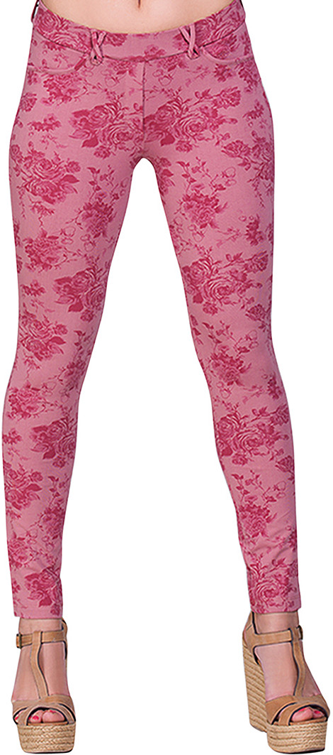Voustyle Womens Pink Jeggings