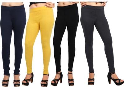 Comix Women's Dark Blue, Yellow, Black, Black Leggings