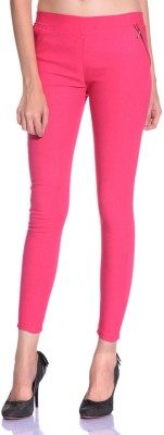 Styleava Women's Pink Jeggings