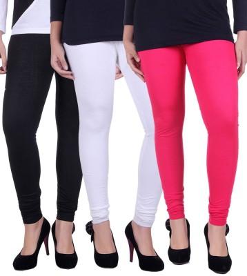 divine creations Women's Black, White, Pink Leggings
