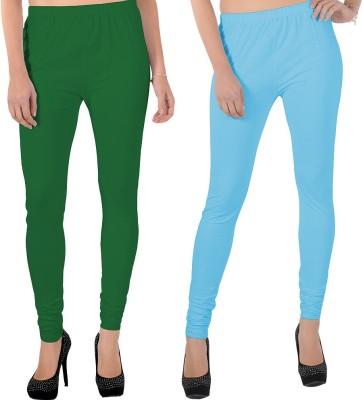 X-Cross Women's Green, Light Blue Leggings