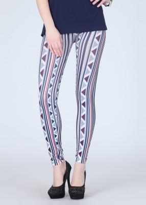 N-Gal Women's White, Dark Blue Leggings