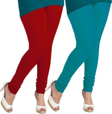 I-Diva Women's Red, Blue Leggings
