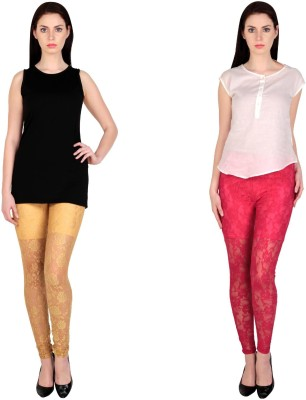 Simrit Women's Beige, Pink Leggings