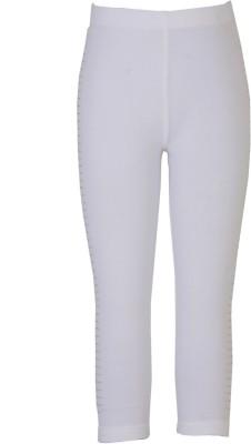 Sera Girl's White Leggings