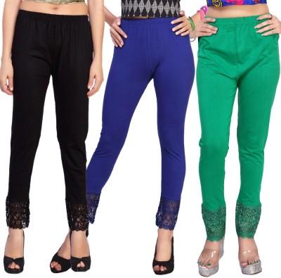 Comix Women's Black, Dark Blue, Green Leggings