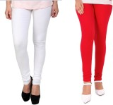 StudioRavel Women's White, Red Leggings ...