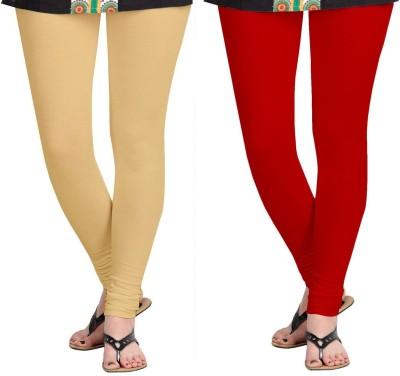 ZACHARIAS Women's Beige, Red Leggings