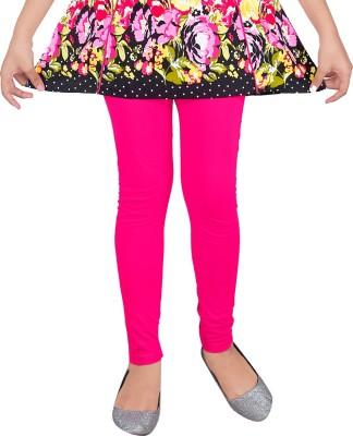 Yellow Dots Girl's Pink Leggings