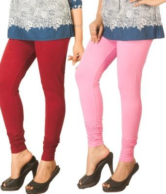 RIF Women's Maroon, Pink Leggings