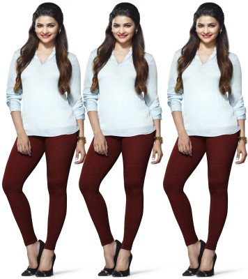 Roshni Creations Women's Maroon, Maroon, Maroon Leggings