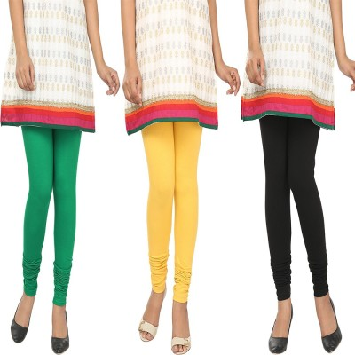 Agrima Fashion Women's Green, Yellow, Black Leggings