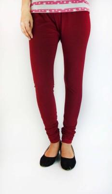 B VOS Girl's Maroon Leggings