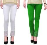 RobinRomeo Women's Green, White Leggings...