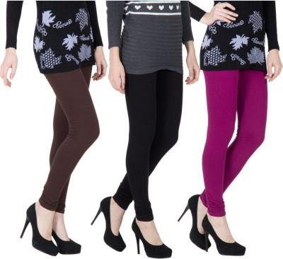 VERMELLO Women's Brown, Black, Purple Leggings