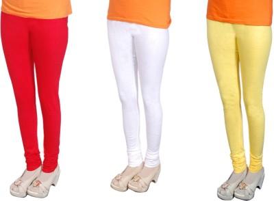 Radhika Garments Women's Red, White, Yellow Leggings