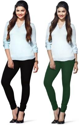 Amul Florio Women's Black, Green Leggings