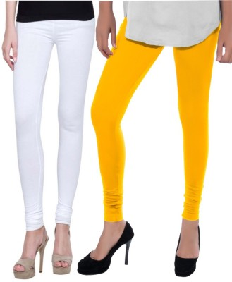 Sampoorna Collection Women's White, Yellow Leggings