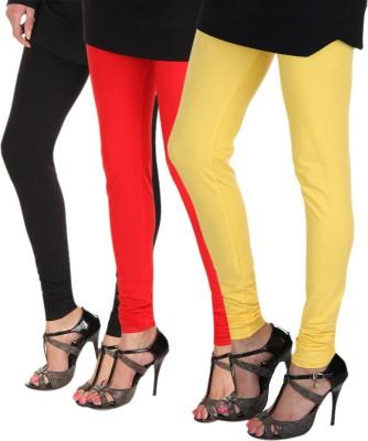 Itnol International Women's Black, Red, Yellow Leggings
