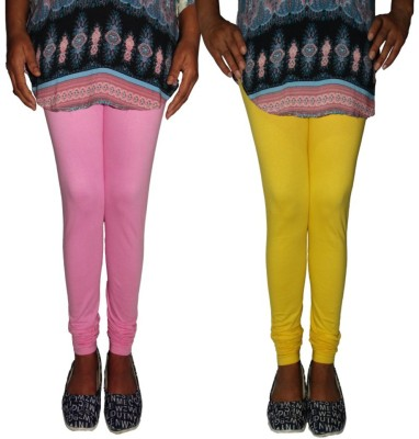Tanunni Women's Pink, Yellow Leggings