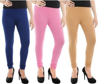 Paulzi Women's Blue, Pink, Beige Leggings