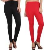 Danbro Women's Black, Red Leggings (Pack...
