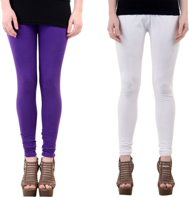 Mynte Women's Purple, White Leggings