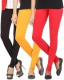 Elance Women's Black, Gold, Red Leggings...