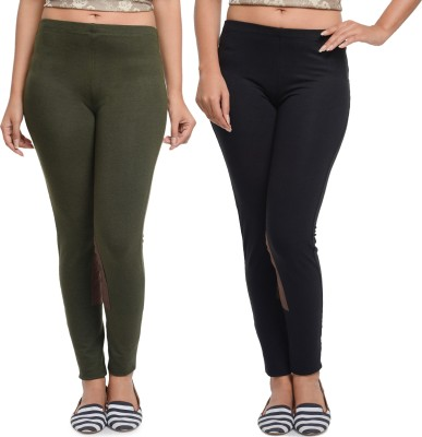 Addyvero Women's Black, Dark Green Jeggings
