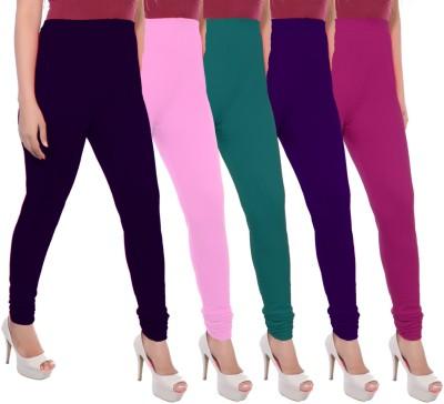 Apple Knitt Wear Women's Purple, Pink, Green, Purple, Pink Leggings