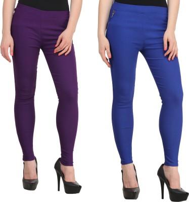 PRIHO Women's Purple, Blue Jeggings