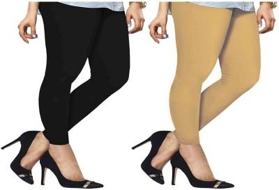 ambey shree trendz Women,s Black, Beige Leggings