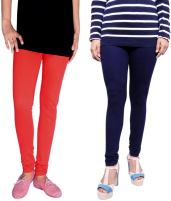 Tanunni Women's Red, Dark Blue Leggings