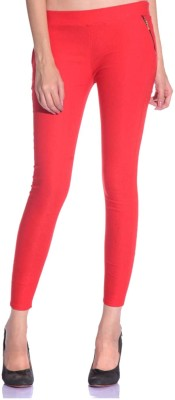 SNP Creations Women's Red Jeggings
