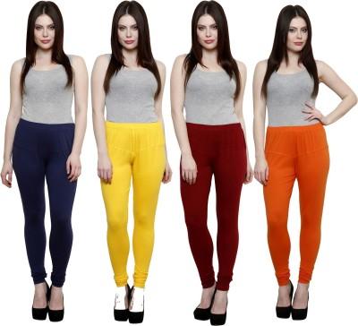 Pistaa Women's Blue, Yellow, Maroon, Orange Leggings