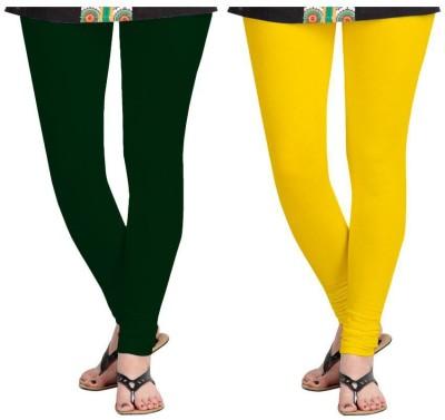 Roshni Creations Women,s Green, Yellow Leggings