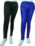Miraaya Women's Brown, Blue Jeggings (Pa...