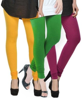 NOVA TRENDZZ Women's Green, Purple, Yellow Leggings